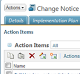 Create Action Items for Change Objects in Windchill.
