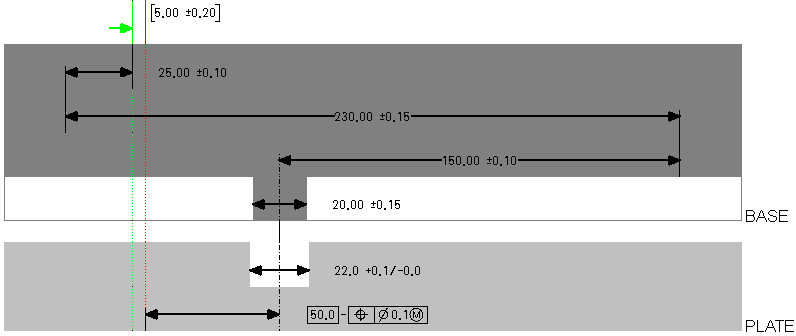 Dimension loop diagram if you click a part box a dimension line or the measurement the corresponding object is highlighted in the measurement definition table and in the creo ccuart Image collections