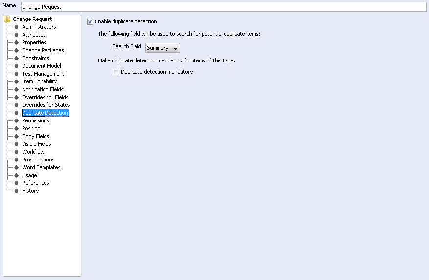 To configure duplicate detection in the GUI