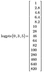 Example: Creating a Vector of Logarithmically Spaced Points