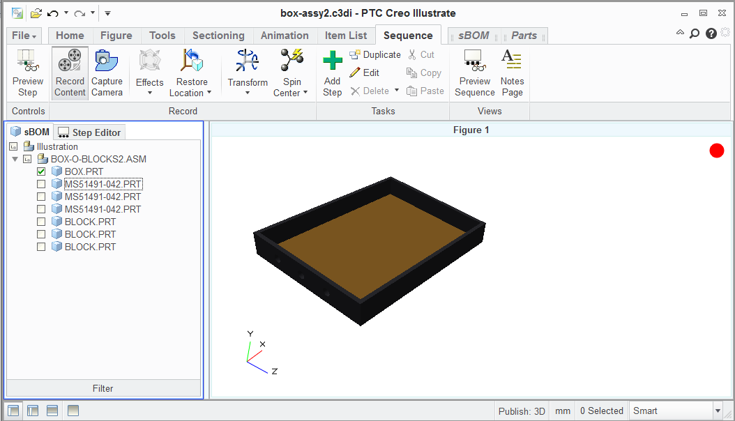 Create a Simple Creo Illustrate Assembly Sequence