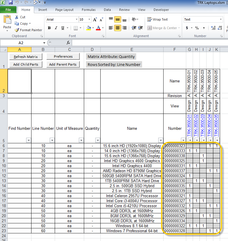 Bom Table Worksheets. The Parent Columns And Child Rows Intersect In Matrix Area Highlighted Below Gray Shading Indicates No Usage Link Exists Between. Worksheet. Above Below Worksheets At Mspartners.co