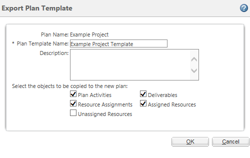 Export plan template and example.