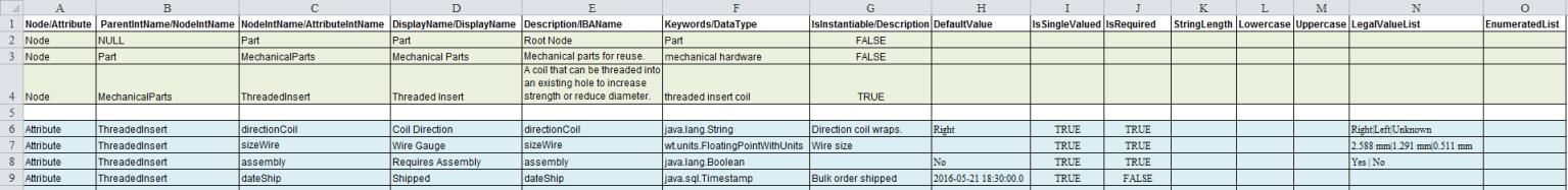 Import Classification Structure from CSV File