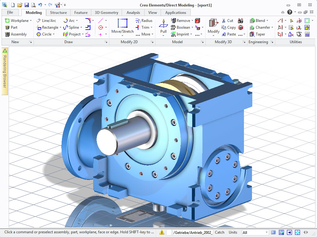 Creo elements direct modeling express download 3d cad for Simple 3d cad software free