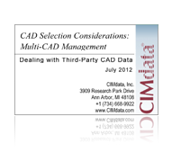 CIMdata Buyer's Guide:  CAD Selection Criteria