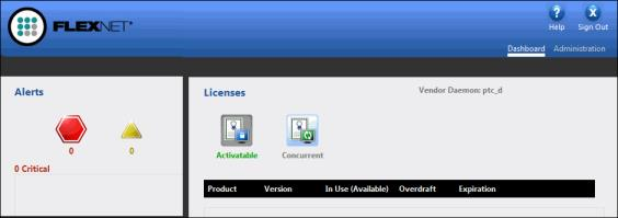 Working with the FLEXnet License Administrator Web Interface