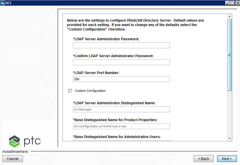 Entering Your LDAP Settings