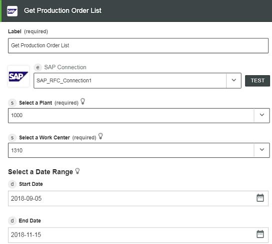 Get Production Order List