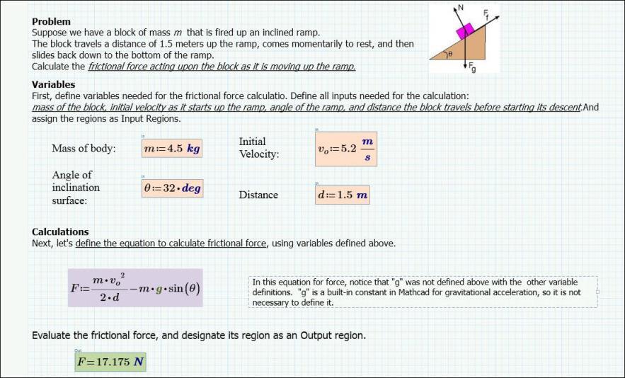 Create a Mathcad Worksheet