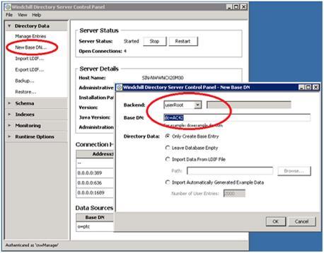 Creating a Base URI in Windchill Directory Server