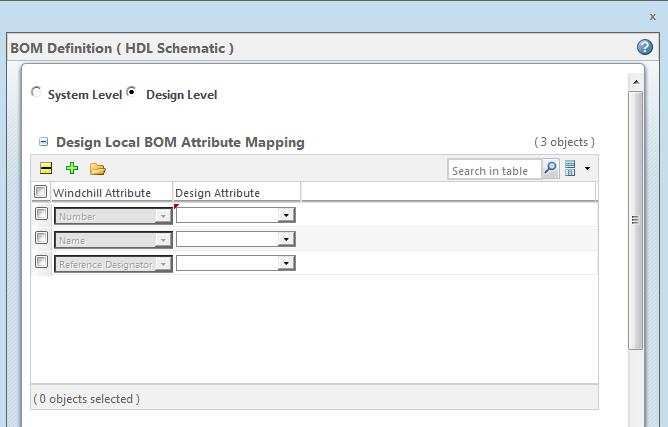 Editing the BOM Attribute Map