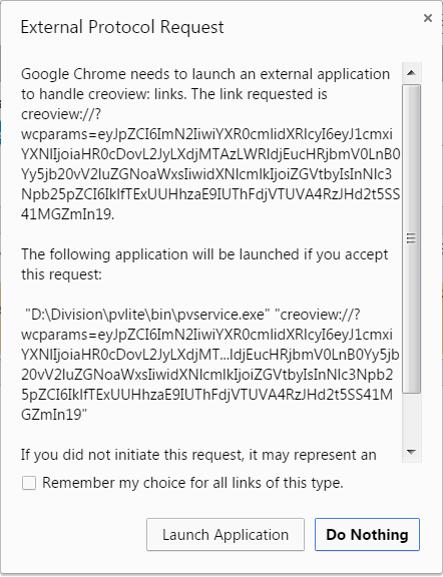 Chrome URI Prompt