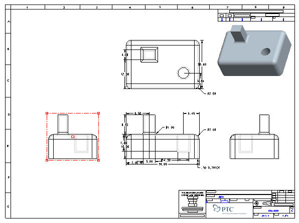 how to draw cross section view